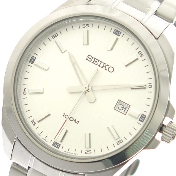 (~8/31) (~8/31) セイコー メンズ SEIKO セイコー 腕時計 SUR273P1 クォーツ ホワイト シルバー メンズ, 淡路米田畑:7228d2f4 --- officewill.xsrv.jp