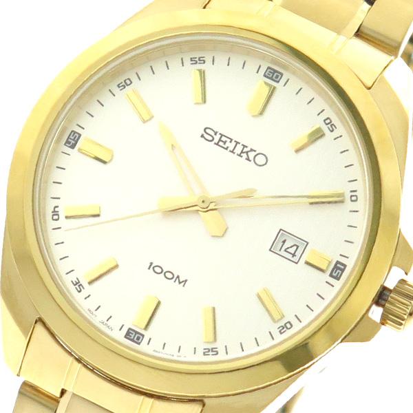 【スーパーSALE】(~9/11 01:59)(~9/30)セイコー SEIKO 腕時計 SUR280P1 クォーツ ホワイト ゴールド メンズ