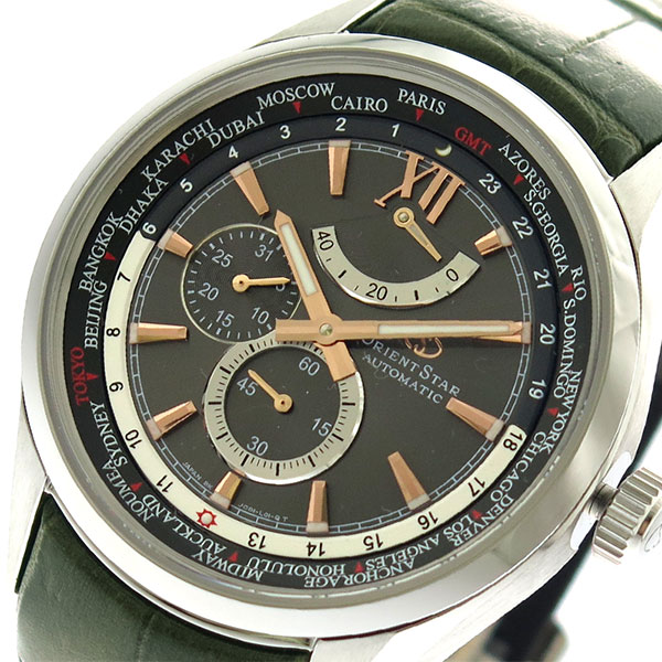 (~8/31) オリエントスター ORIENT STAR 腕時計 WZ0091JC 自動巻き グレーシルバー カーキ メンズ