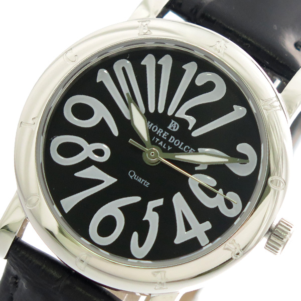 【大感謝祭】(~12/26 01:59)(~12/25)【キャッシュレス5%】アモーレドルチェ AMORE DOLCE クオーツ 腕時計 AD18303-SSBK-BK ブラック レディース