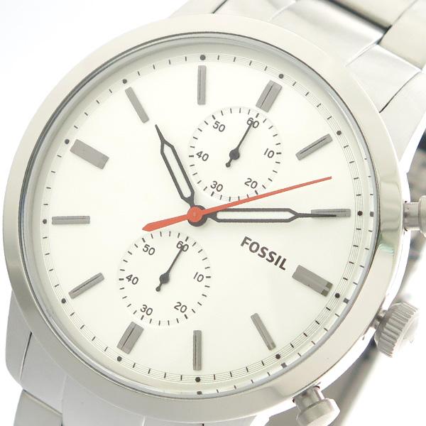(~4/30)【キャッシュレス5%】フォッシル FOSSIL 腕時計 FS5346 クォーツ ホワイト シルバー メンズ