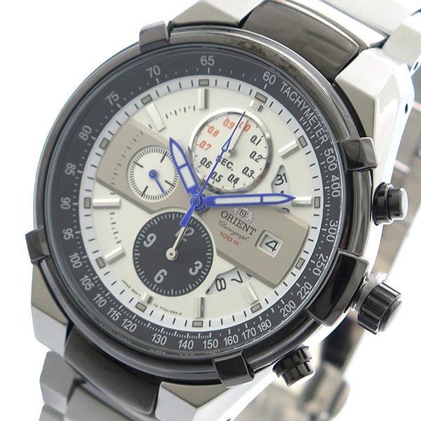 【スーパーSALE】(~9/11 01:59)(~9/30)オリエント ORIENT 腕時計 FTT0J003W0 クォーツ ホワイト シルバー メンズ