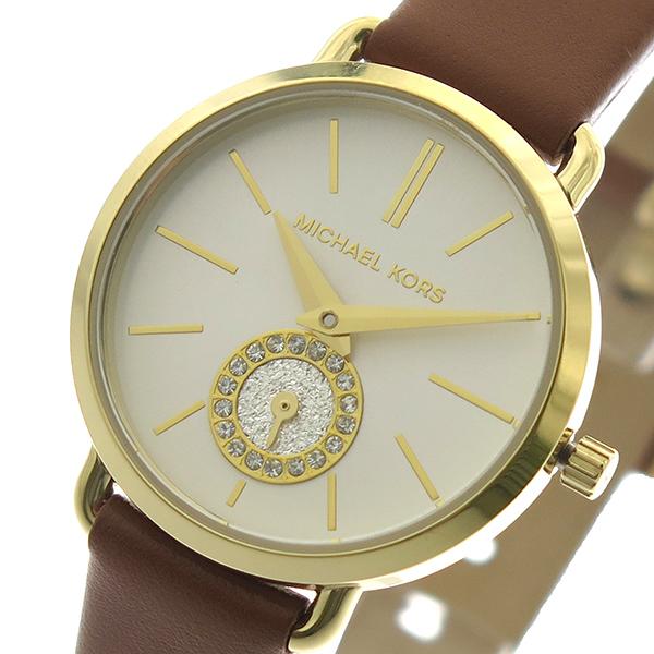 (~8/31) マイケルコース MICHAEL KORS MICHAEL 腕時計 MK2734 クォーツ 腕時計 ホワイトシルバー (~8/31) ブラウン レディース, テルショップジャパン:008617d0 --- officewill.xsrv.jp