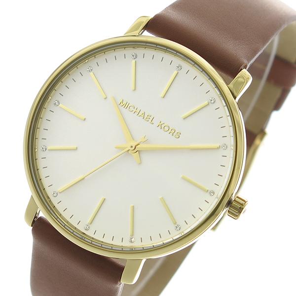 【スーパーSALE】(~9/11 01:59)(~9/30)マイケルコース MICHAEL KORS 腕時計 MK2740 クォーツ ホワイトシルバー ブラウン ユニセックス