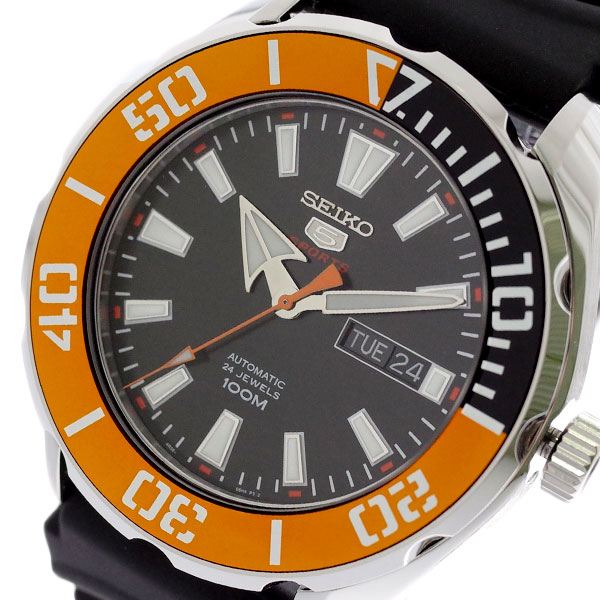 (~8/31) セイコー ブラック SEIKO 腕時計 セイコー5 SRPC59K1 セイコー セイコー5 SEIKO5 スポーツ SPORTS 自動巻き ブラック メンズ, アイオイチョウ:a6da6812 --- officewill.xsrv.jp