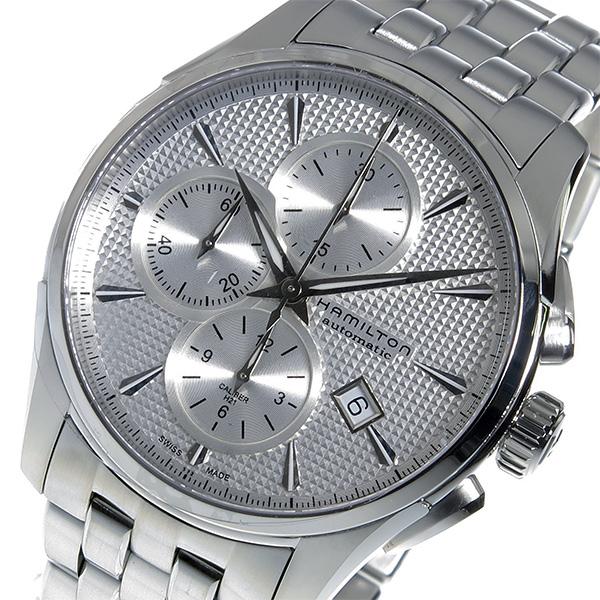 【スーパーSALE】(~9/11 01:59)(~9/30)ハミルトン HAMILTON ジャズマスター クロノグラフ 自動巻き 腕時計 H32596151 シルバー メンズ 【代引き不可】