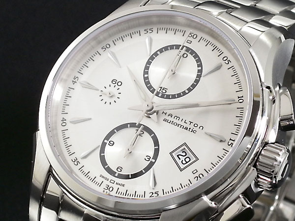 【スーパーSALE】(~9/11 01:59)(~9/30)ハミルトン HAMILTON ジャズマスター オートクロノグラフ 自動巻き 腕時計 H32616153 メンズ 【代引き不可】
