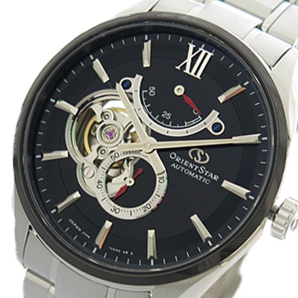 (~4/30)【キャッシュレス5%】オリエントスター ORIENT STAR 腕時計 RK-HJ0003B 自動巻き ブラック シルバー メンズ 【代引き不可】