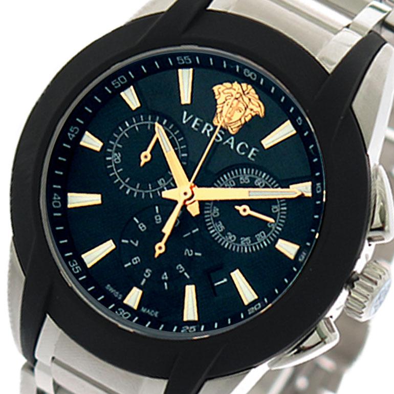 (~8 VEM800218 (~8/31)/31) ヴェルサーチ VERSACE 腕時計 VEM800218 シルバー クォーツ ブラック シルバー メンズ【代引き不可】, トナー職人:0fdd7288 --- officewill.xsrv.jp