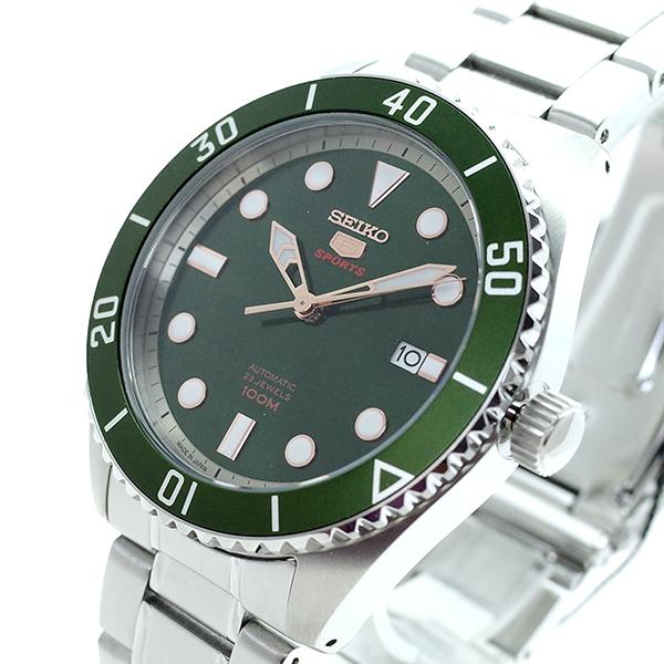 (~8/31) メンズ セイコー SEIKO (~8/31) 腕時計 自動巻き SRPB93J1 SEIKO5 自動巻き グリーン シルバー メンズ, 東海つり具:94c9b409 --- officewill.xsrv.jp