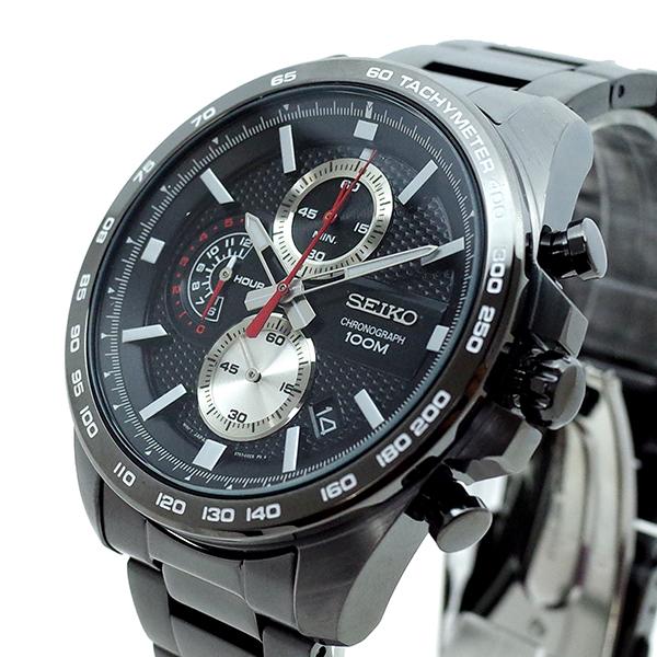 (~8/31) セイコー ブラック SEIKO (~8/31) 腕時計 メンズ SSB283P1 クォーツ ブラック ガンメタル メンズ, ブランドプラネット:f01d3f2f --- officewill.xsrv.jp