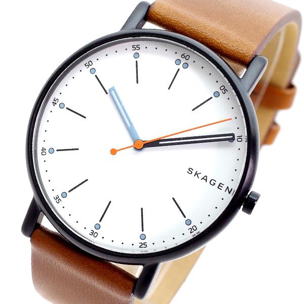 (~4/30)【キャッシュレス5%】スカーゲン SKAGEN 腕時計 SKW6374 SIGNATUR クォーツ ホワイト ブラウン メンズ
