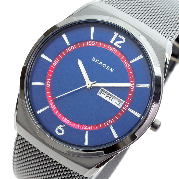 【スーパーSALE】(~9/11 01:59)(~9/30)スカーゲン SKAGEN 腕時計 SKW6503 MELBYE クォーツ ネイビー グレー メンズ