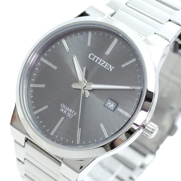 【スーパーSALE】(~9/11 01:59)(~9/30)シチズン CITIZEN 腕時計 BI5060-51H クォーツ グレー シルバー メンズ
