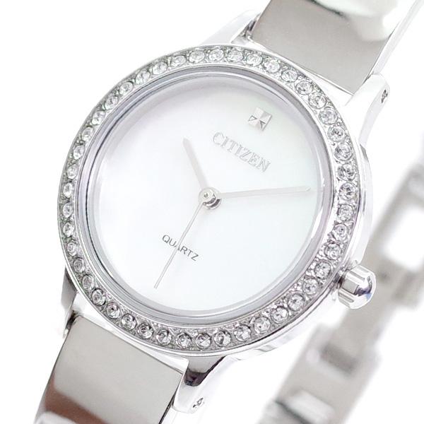 (~4/30)【キャッシュレス5%】シチズン CITIZEN 腕時計 EJ6130-51D クォーツ ホワイトシェル シルバー レディース