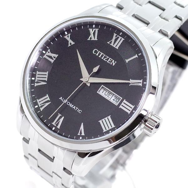 (~4/30)【キャッシュレス5%】シチズン CITIZEN 腕時計 NH8360-80E 自動巻き ブラック シルバー メンズ