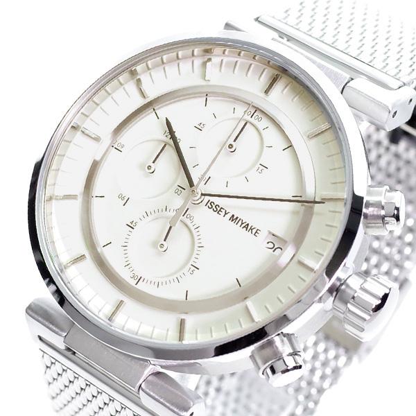 【スーパーSALE】(~9/11 01:59)(~9/30)イッセイ ミヤケ ISSEY MIYAKE 腕時計 NY0Y003 クォーツ ベージュ シルバー メンズ