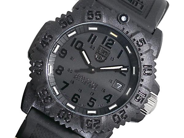【スーパーSALExポイントアップ】(3/4 20:00~3/11 01:59)【ポイント2倍】(~3/31)【キャッシュレス5%】ルミノックス LUMINOX ネイビーシールズ 腕時計 7051 BLACKOUT レディース