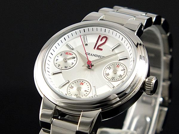 【大感謝祭】(~12/26 01:59)(~12/25)【キャッシュレス5%】グランドール GRANDEUR 腕時計 OSC047W1 レディース