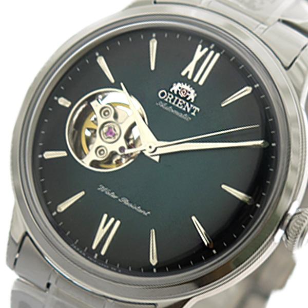 (~4/30)【キャッシュレス5%】オリエント ORIENT 腕時計 RN-AG0015E 自動巻き グリーン シルバー メンズ