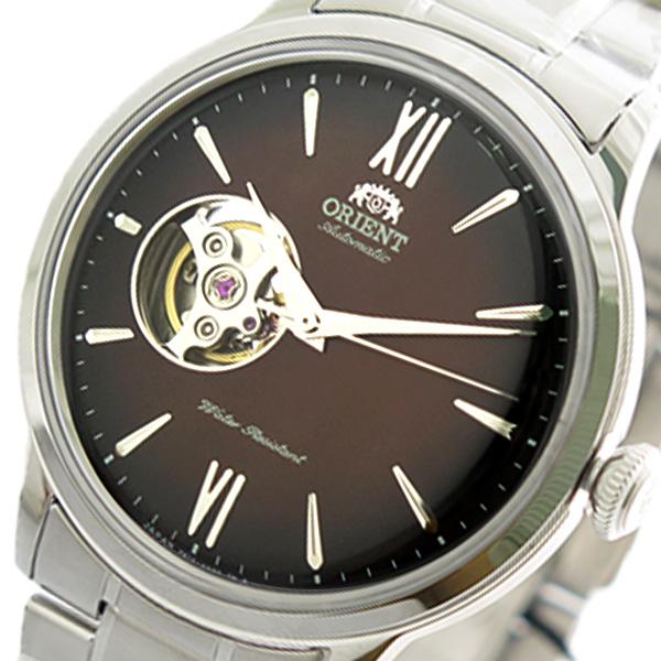 (~4/30)【キャッシュレス5%】オリエント ORIENT 腕時計 RN-AG0016Y 自動巻き ブラウン シルバー メンズ
