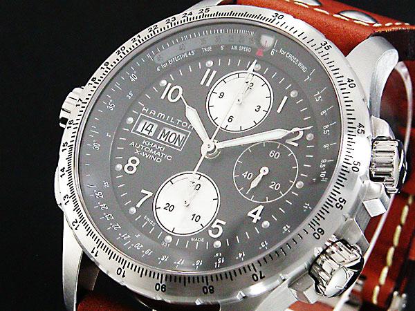 【スーパーSALE】(~9/11 01:59)(~9/30)ハミルトン HAMILTON カーキ KHAKI X-ウィンド 自動巻き 腕時計 H77616533 ブラック メンズ 【代引き不可】