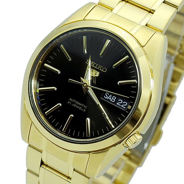 (~8 腕時計/31) セイコー (~8/31) SEIKO SEIKO 腕時計 SNKL50K1 セイコー5 SEIKO 5 自動巻き ブラック ゴールド ユニセックス, オーディオ逸品館:f2735764 --- officewill.xsrv.jp