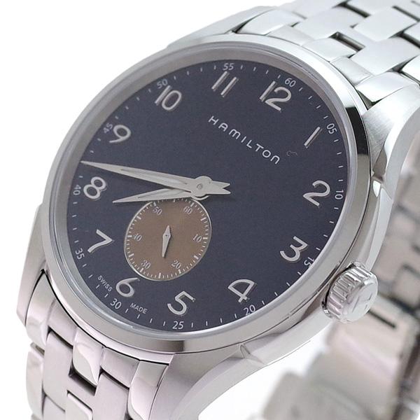 (~4/30)【キャッシュレス5%】ハミルトン HAMILTON 腕時計 H38411140 ジャズマスター シンライン クォーツ ネイビー シルバー メンズ 【代引き不可】
