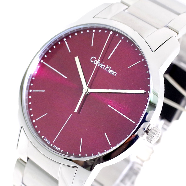 (~8/31) カルバン クォーツ クライン CALVIN KLEIN (~8/31) 腕時計 クライン K2G2G14P クォーツ レッド シルバー メンズ, 日吉村:aca21a4a --- officewill.xsrv.jp