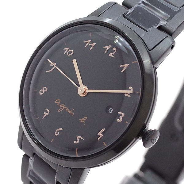 (~8/31) アニエスベー AGNS AGNS B 腕時計 BH7019X1 B ブラック クォーツ ブラック レディース, meteor:5b02e55b --- officewill.xsrv.jp