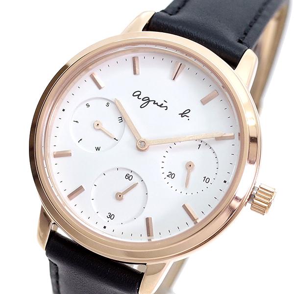 (~8/31) アニエスベー AGNS B 腕時計 クォーツ 腕時計 アニエスベー BP6023X1 クォーツ ホワイト ブラック レディース, ジョウナンマチ:c4b78fed --- officewill.xsrv.jp