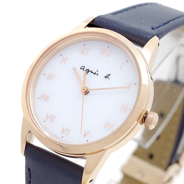 (~8 B/31) アニエスベー AGNS B 腕時計 クォーツ BU9032P1 クォーツ アニエスベー ホワイト ネイビー レディース, ヴィヴィド フォー ユー:2748e730 --- officewill.xsrv.jp