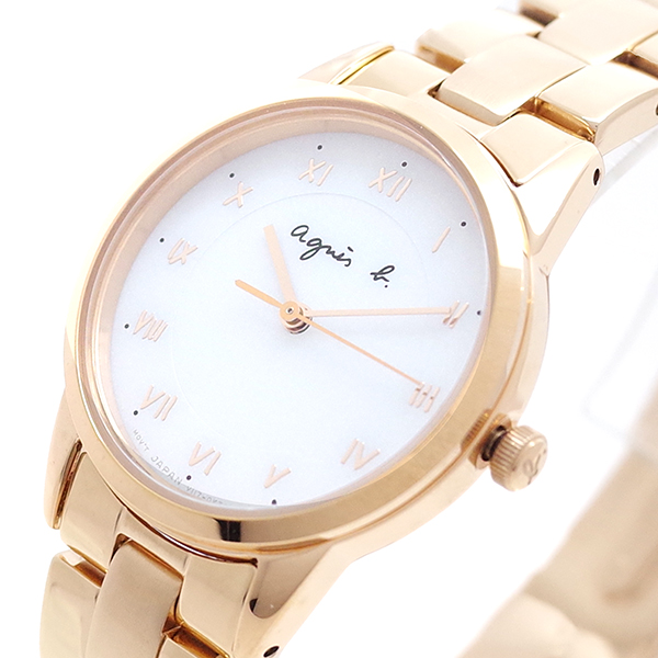(~8/31) BU9034P1 ホワイト アニエスベー AGNS B 腕時計 腕時計 BU9034P1 クォーツ ホワイト ピンクゴールド レディース, 吉備町:c7ae23cc --- officewill.xsrv.jp