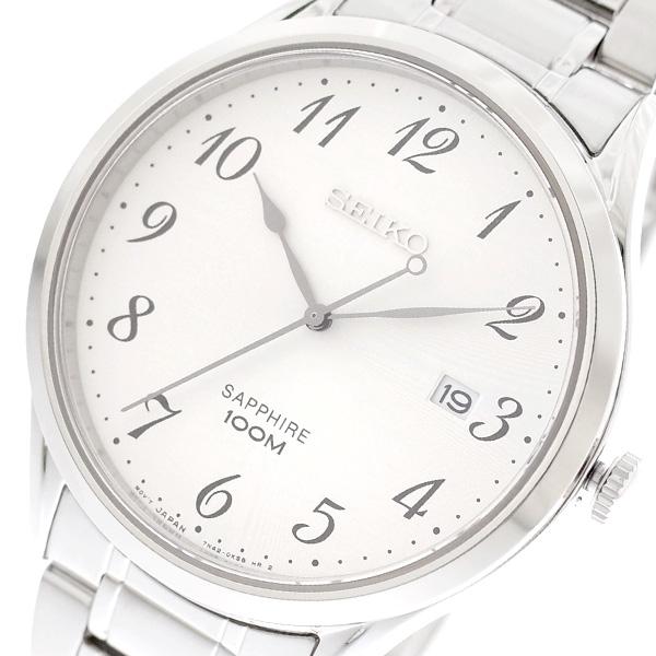 【スーパーSALE】(~9/11 01:59)(~9/30)セイコー SEIKO 腕時計 SGEH73P1 クォーツ ホワイト シルバー メンズ