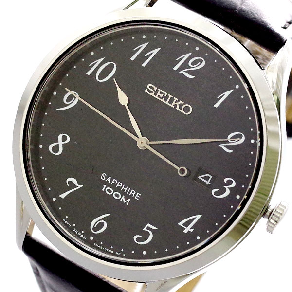 (~8/31) セイコー メンズ SEIKO 腕時計 SGEH77P1 クォーツ クォーツ ブラック SEIKO メンズ, ソニムラ:50ff91fb --- officewill.xsrv.jp