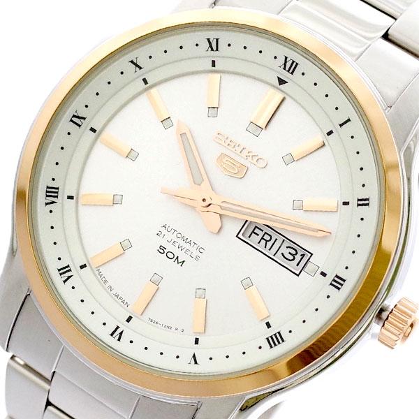 【スーパーSALE】(~9/11 01:59)(~9/30)セイコー SEIKO 腕時計 SNKP12J1 セイコー5 SEIKO5 自動巻き ホワイト シルバー メンズ