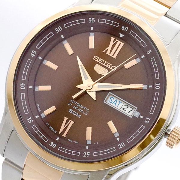 (~4/30)【キャッシュレス5%】セイコー SEIKO 腕時計 SNKP18J1 セイコー5 SEIKO5 自動巻き ブラウン シルバー メンズ