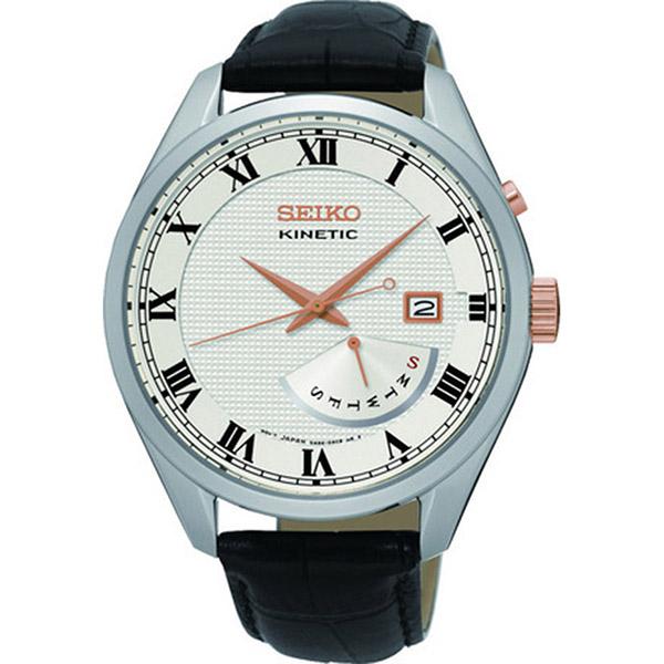 【スーパーSALE】(~9/11 01:59)(~9/30)セイコー SEIKO キネティック クオーツ 腕時計 SRN073P1 シルバー メンズ