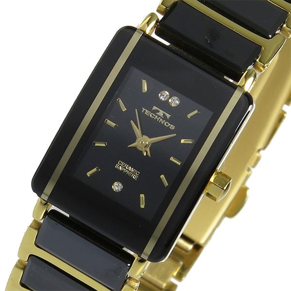 (~8/31) テクノス TECHNOS TECHNOS クオーツ 腕時計 TSL906GB テクノス ブラック レディース レディース, 大里町:d9e1a4c6 --- officewill.xsrv.jp
