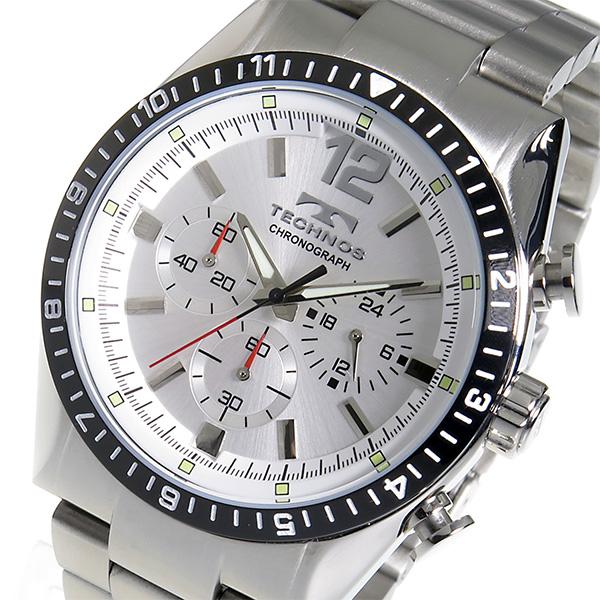 (~8/31) テクノス TECHNOS クロノグラフ テクノス クオーツ TECHNOS (~8/31) 腕時計 TSM104TS シルバー メンズ, ポンコタンオンライン:66c82a00 --- officewill.xsrv.jp
