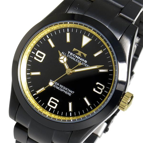 (~8 TECHNOS/31) テクノス TECHNOS クオーツ クオーツ 腕時計 腕時計 TSM208BG ブラック メンズ, シラミネムラ:0596c8e4 --- officewill.xsrv.jp