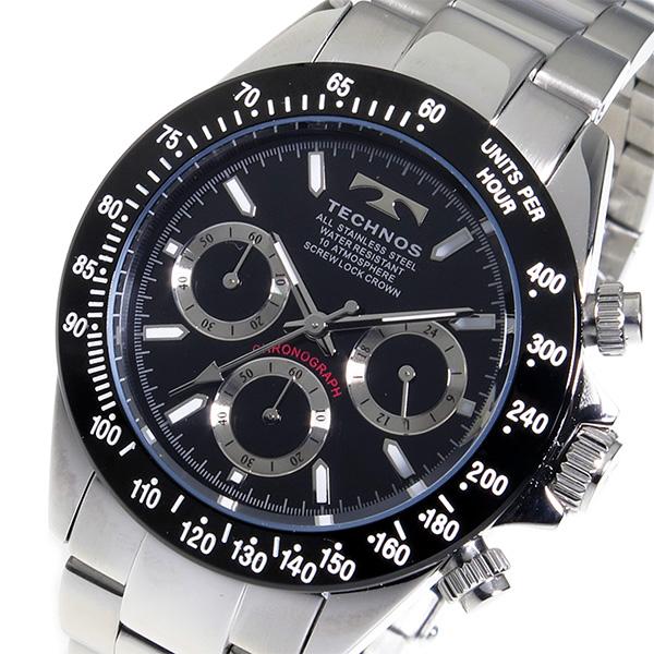 (~8/31) テクノス TECHNOS クロノグラフ (~8/31) TECHNOS クオーツ クロノグラフ 腕時計 TSM401TB ブラック メンズ, 東置賜郡:308316c6 --- officewill.xsrv.jp