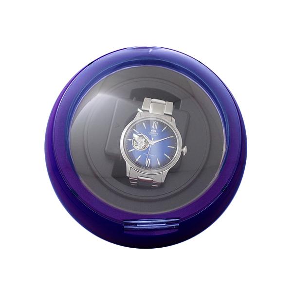 【ワンダフルDAY×ポイントアップ】(~3/1)【キャッシュレス5%】ワインダー ワインディングマシーン 1本巻き 腕時計用品 KA077-DP パープル ユニセックス 【ラッピング不可】