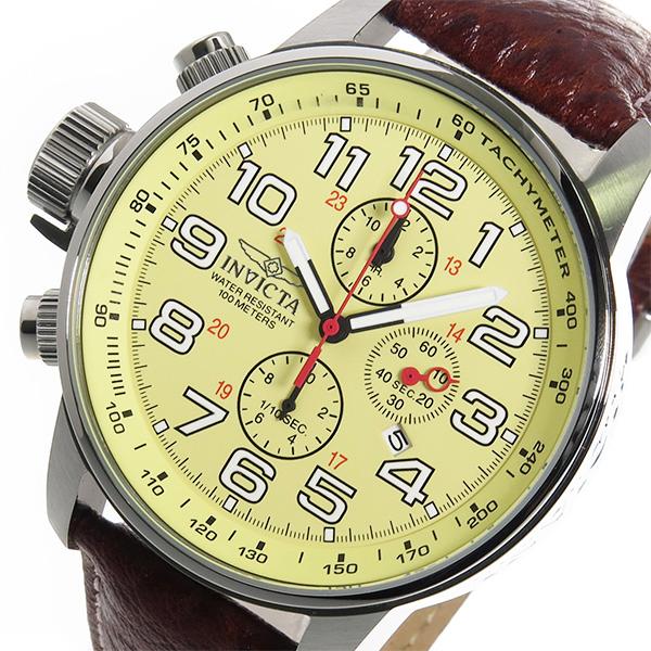 (~4/30)【キャッシュレス5%】インヴィクタ INVICTA クロノグラフ クオーツ 腕時計 2772 アイボリー メンズ