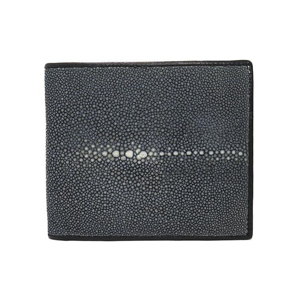 (~4/30 23:59) スティングレイ ポリッシュ 二つ折り短財布 SJSK-E1563-BK ブラック ユニセックス