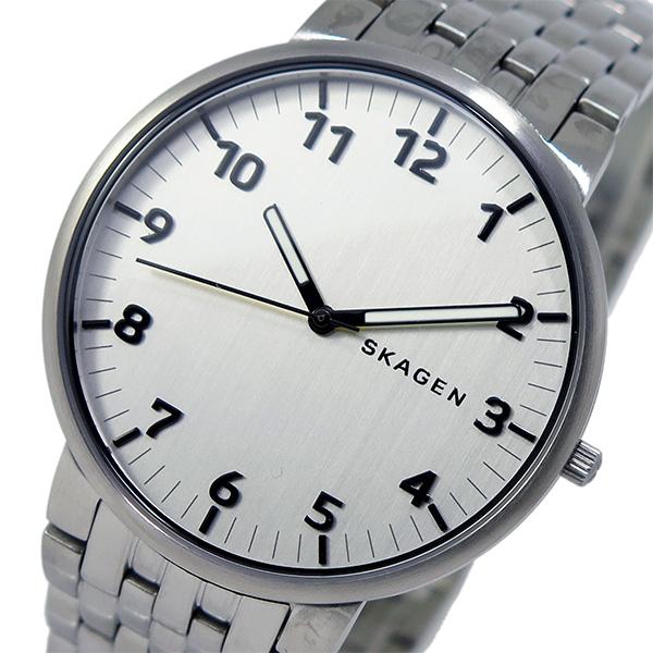 (~4/30)【キャッシュレス5%】スカーゲン SKAGEN クオーツ 腕時計 SKW6200 シルバー メンズ
