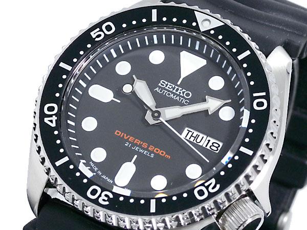 【期間限定】(~9/1 23:59) セイコー SEIKO ダイバー ブラックボーイ 自動巻き 腕時計 SKX007J1 メンズ