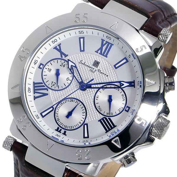 (~8/31) サルバトーレ マーラ (~8/31) Salvatore Marra クオーツ Salvatore 腕時計 SM14118S-SSWH サルバトーレ ホワイト メンズ, スーパースポーツカンパニー:10d26dda --- officewill.xsrv.jp