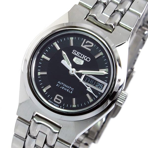 (~8 ブラック/31) レディース セイコー 腕時計 SEIKO セイコーファイブ 自動巻き 腕時計 SYMK33K1 ブラック レディース, 留萌市:00a9f31d --- officewill.xsrv.jp