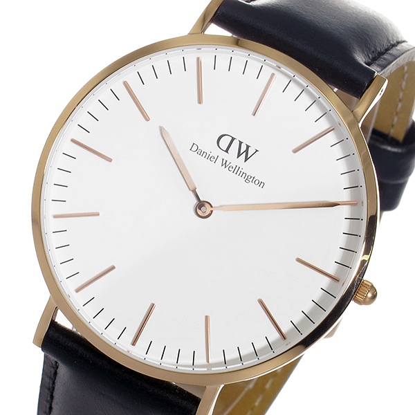 (~4/30)【キャッシュレス5%】ダニエル ウェリントン Daniel Wellington シェフィールド/ローズ 40mm クオーツ 腕時計 0107DW メンズ
